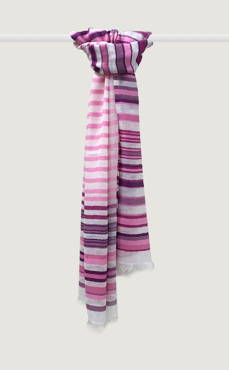 Pink Orchid Stripes