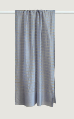 Dusty Blue Striped Pashmina