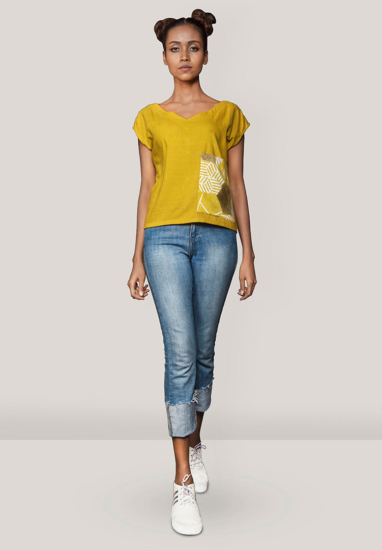 Large Pocket Top Mustard