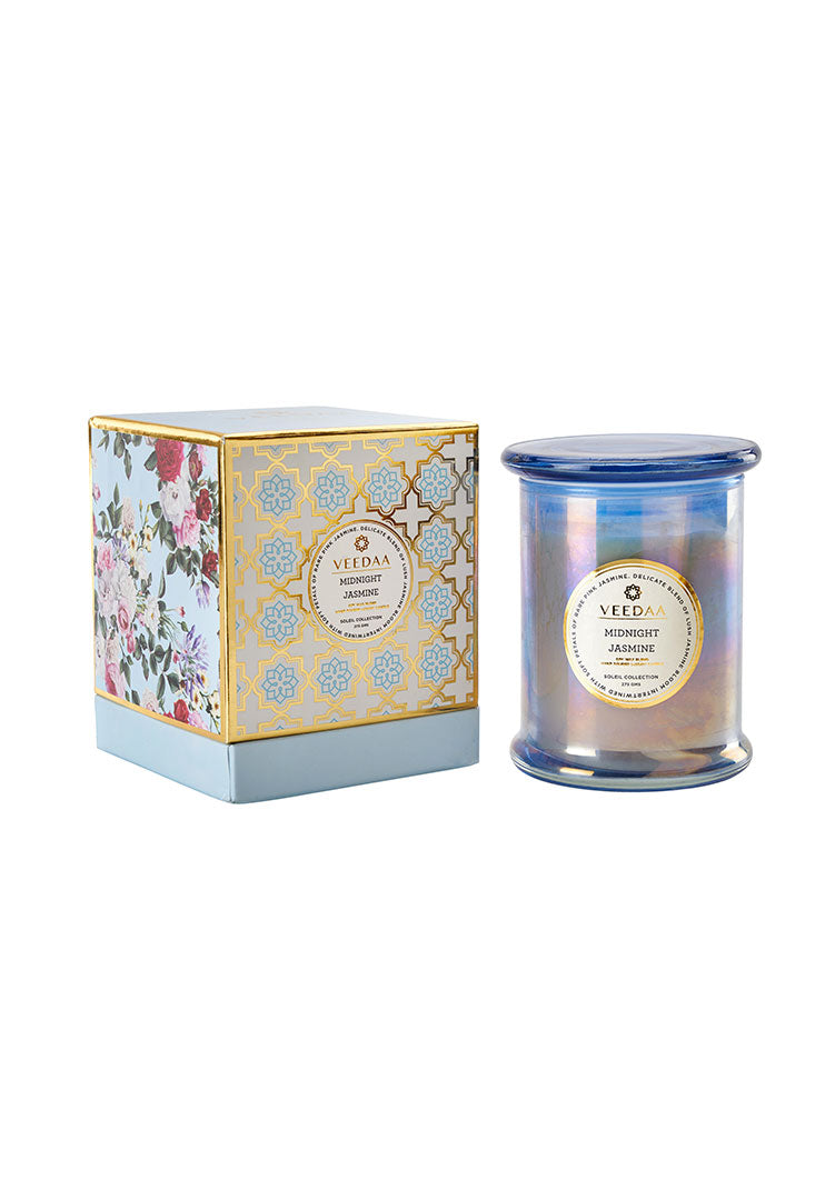 Midnight Jasmine Danube Glass - Soy Scented Candle