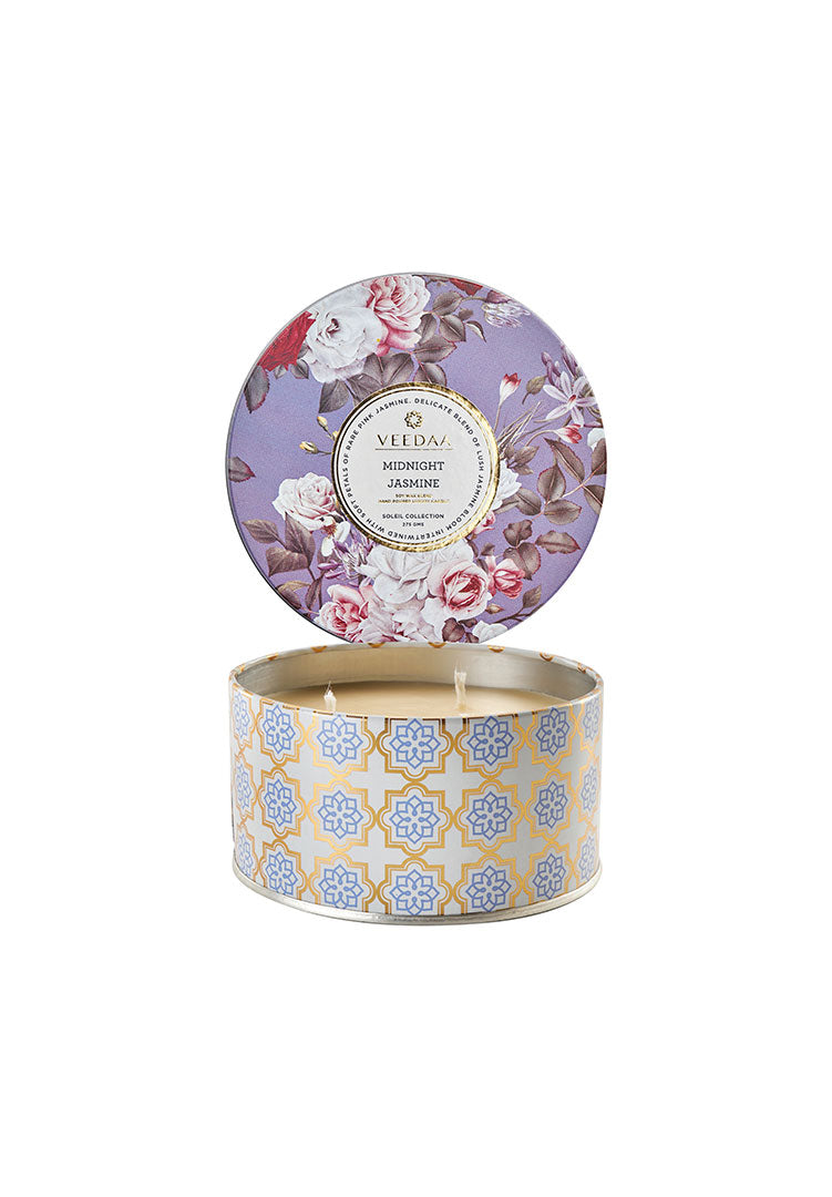 Midnight Jasmine 3 Wick Tin - Soy Scented Candle