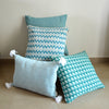 Teal Tasseled Sham