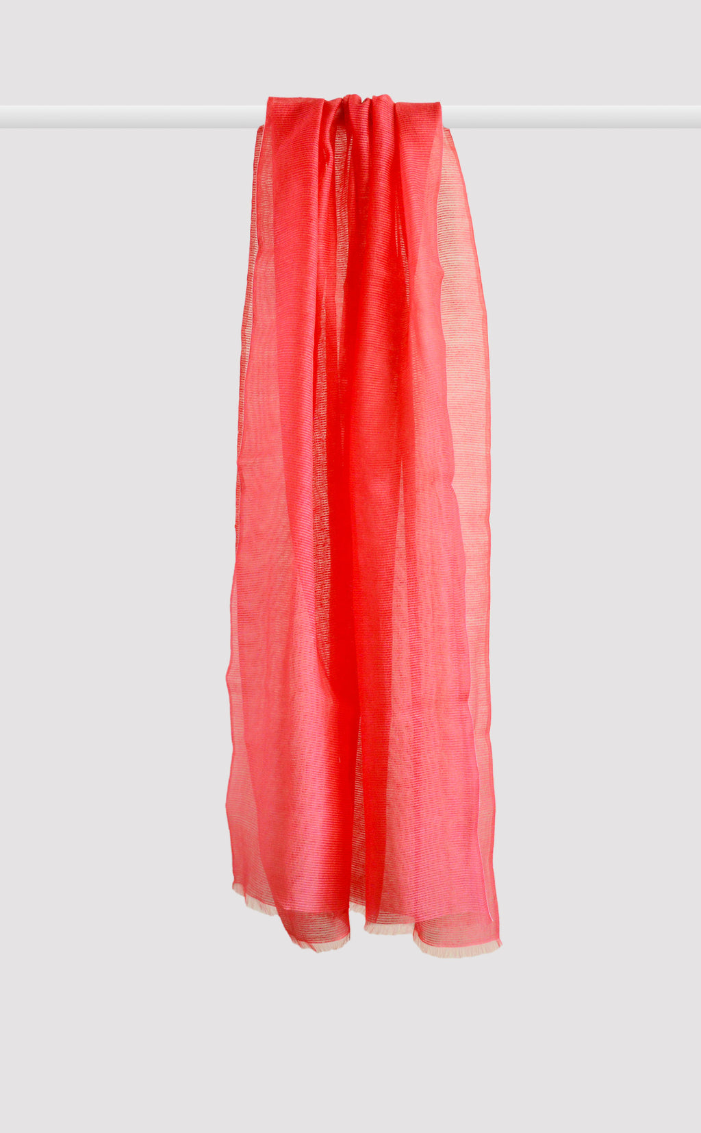 Cherry Red Organza Dupatta