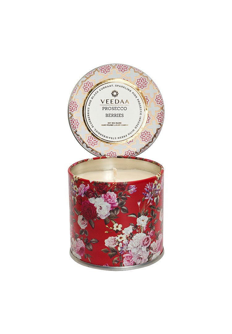 Prosecco Berries Mason Tin - Soy Scented Candle