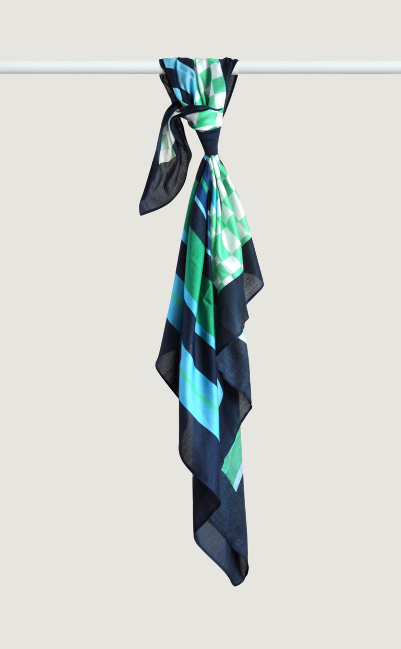 Mint Patterned Scarf