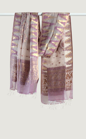 Dusty Rose Ikat Dupatta
