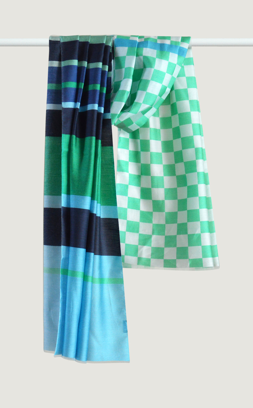 Green Patterned Stole