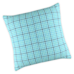 Blue Houndstooth Cushion