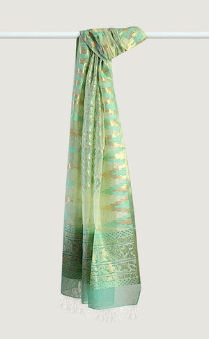 Lime Green Ikat Dupatta