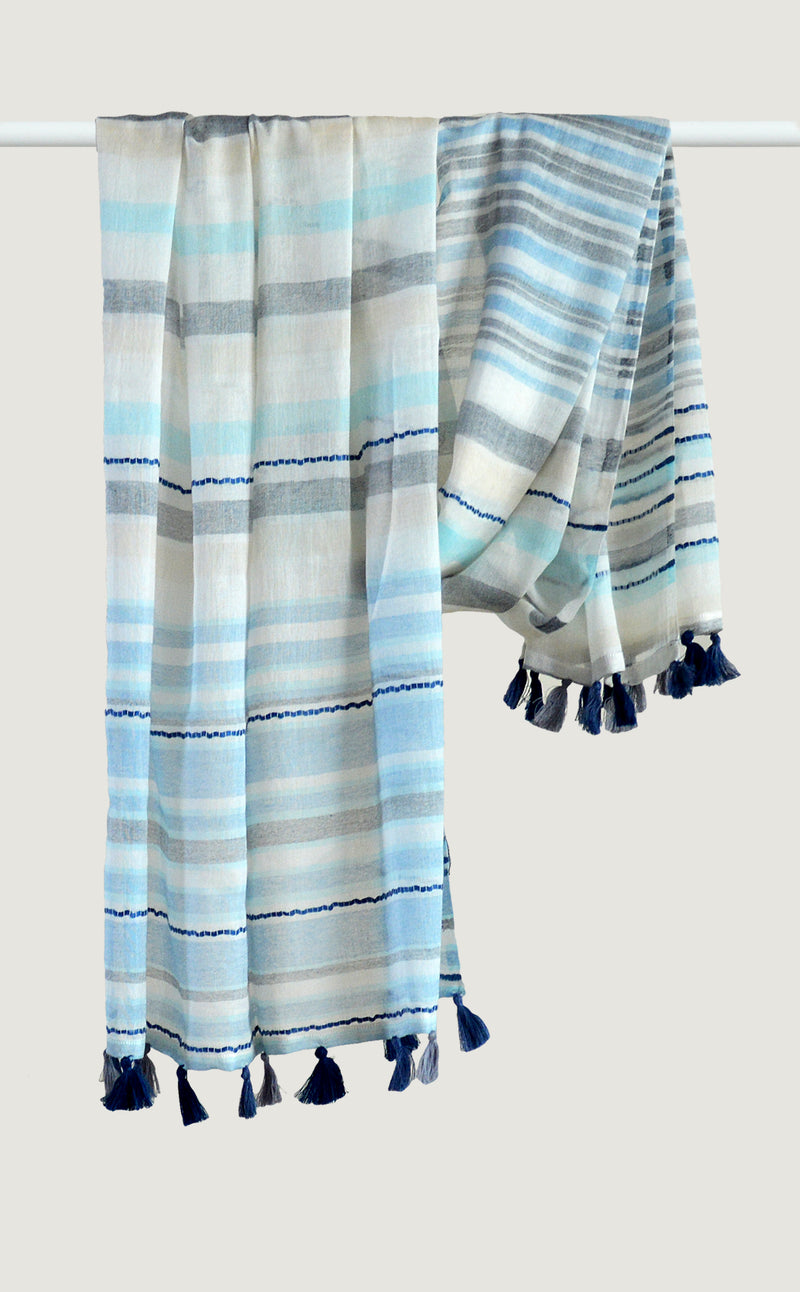 Sky Blue Cotton Tassel