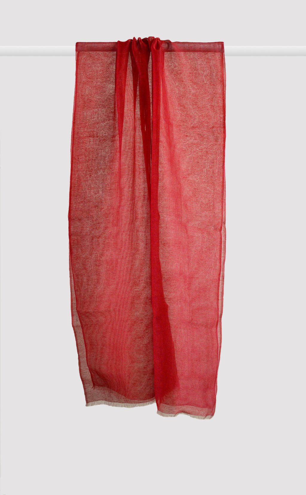 Deep Red Organza Dupatta