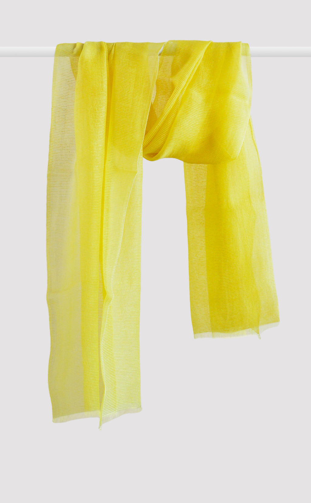 Lemon Yellow Organza Dupatta