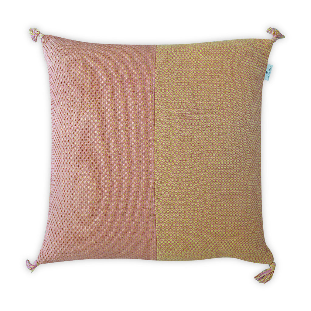 Orange Two Tone Cushion