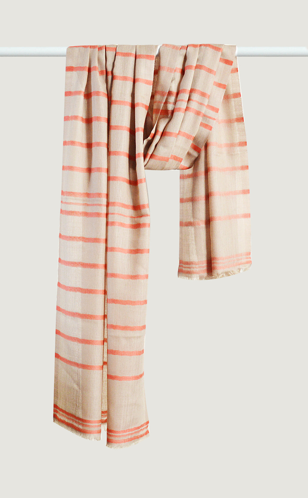 Merino Stripes Coral
