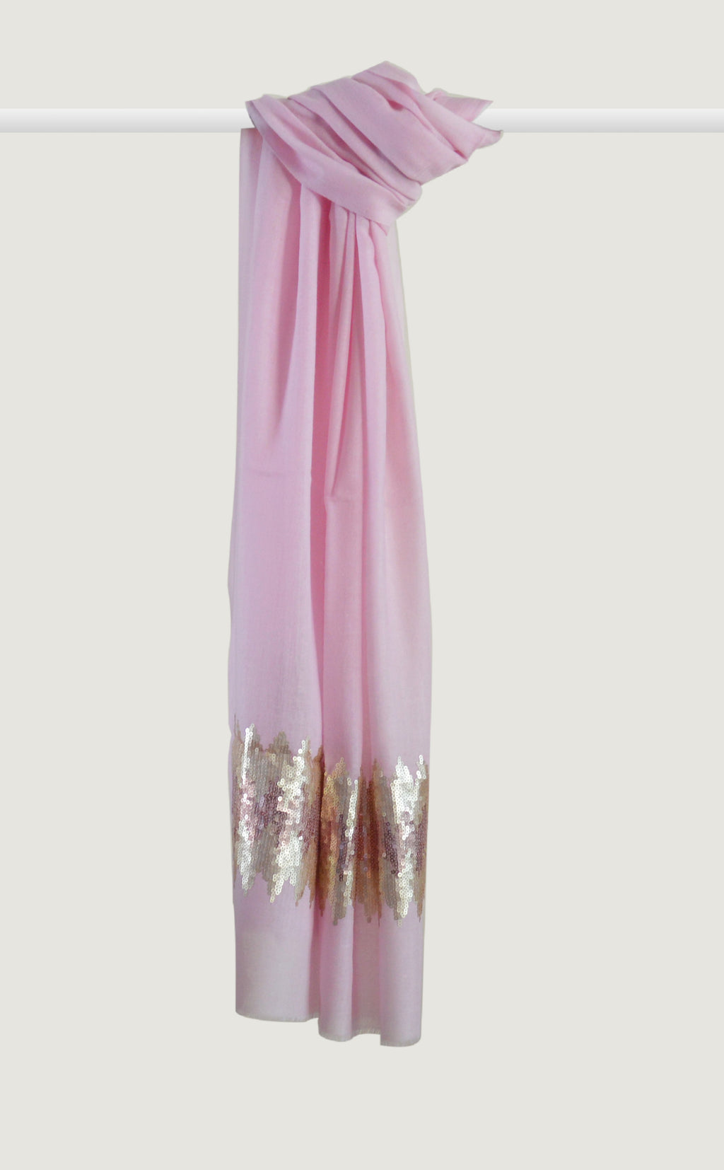 Baby Pink Embroidered Stole