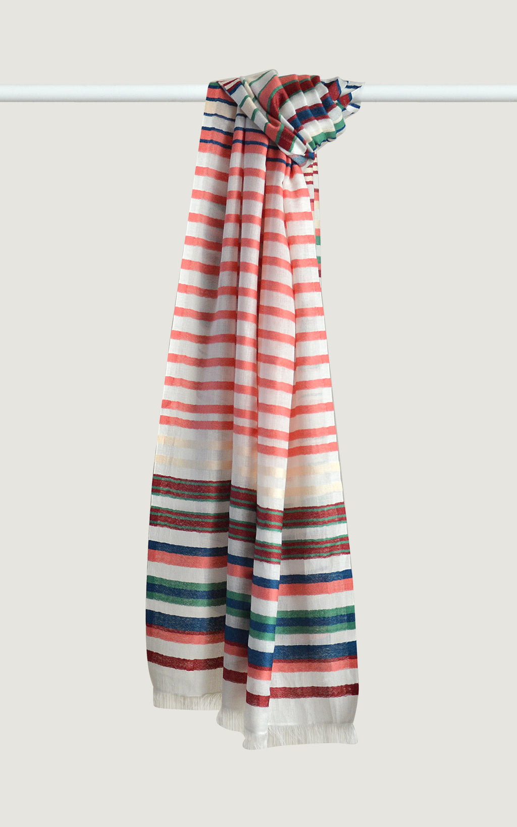 Coral Cotton Stripes