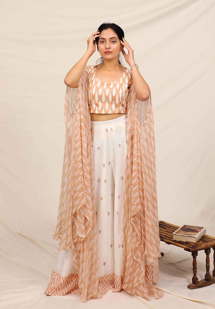 Peach Indie Cape Set