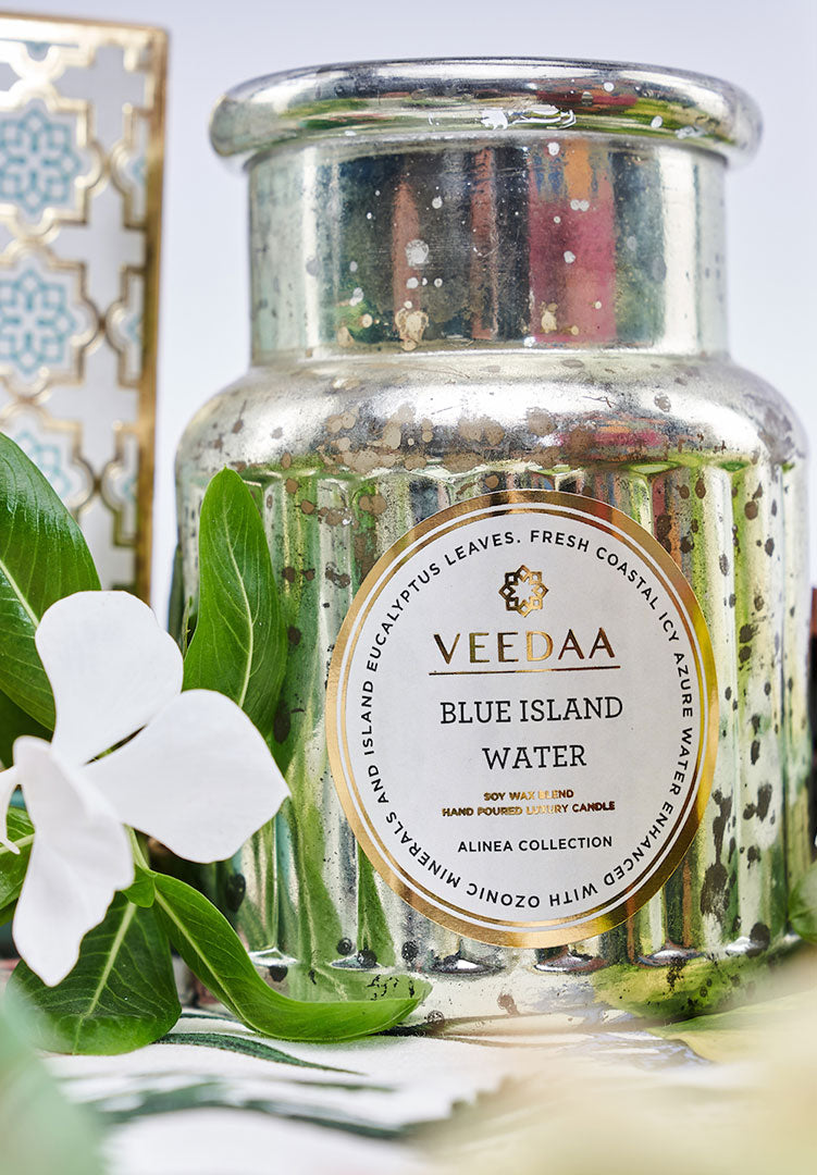 Blue Island Water Crown Glass - Scented Candle