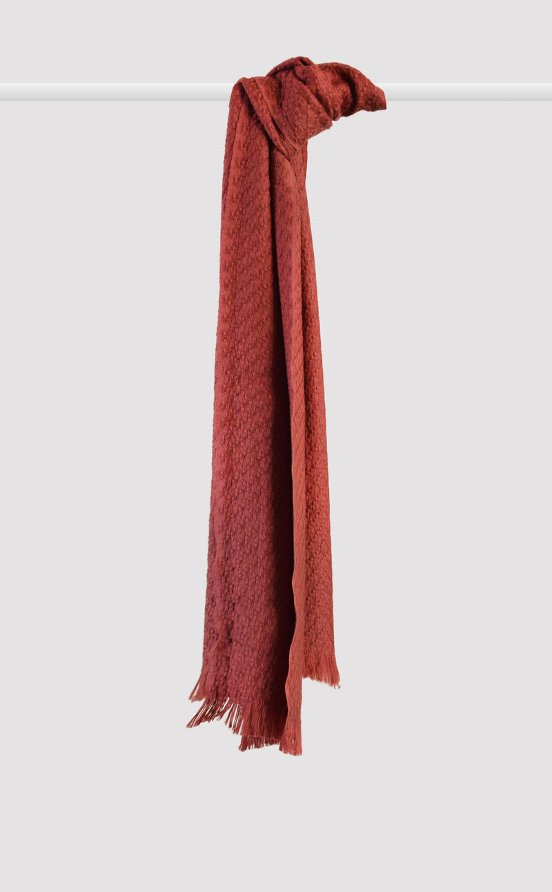 Dusty Red Woven Muffler