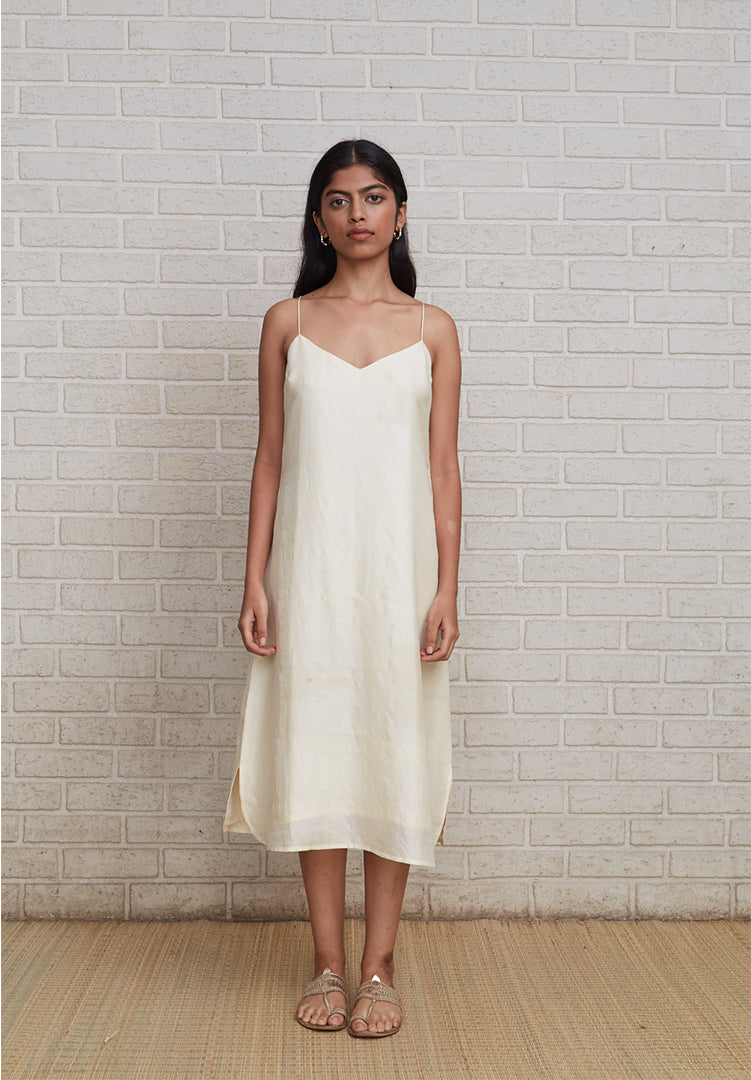 Spaghetti Dress - White