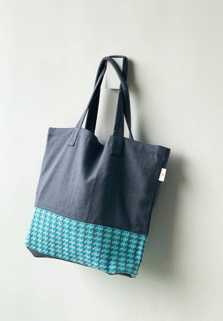 Blue Weave Tote