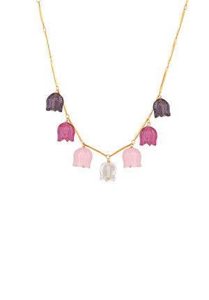Blossom Pink Tulip Necklace