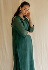 Baad Kurta Set - Emerald Green