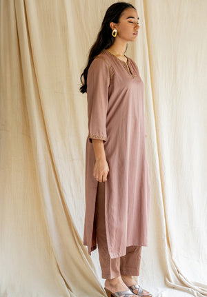 Seedh Kurta - Old Rose
