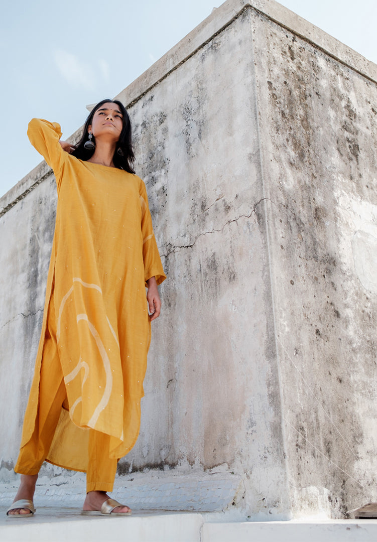 Arsa Kurta Set - Mustard Yellow