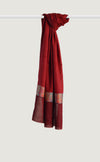 Red Maroon Chevron Shawl