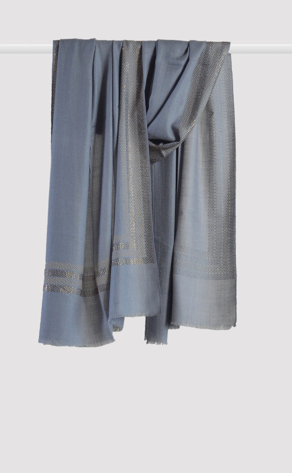 Dusty Blue Embellished Stole