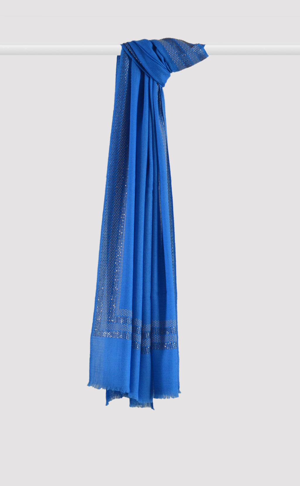 Blue Embellished Stole