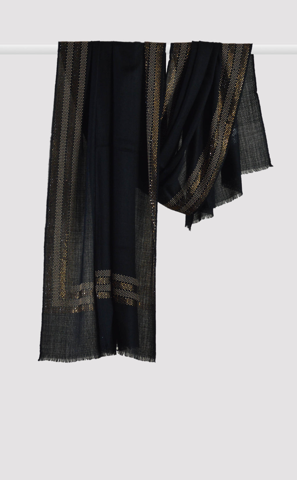 Black Embellished Stole