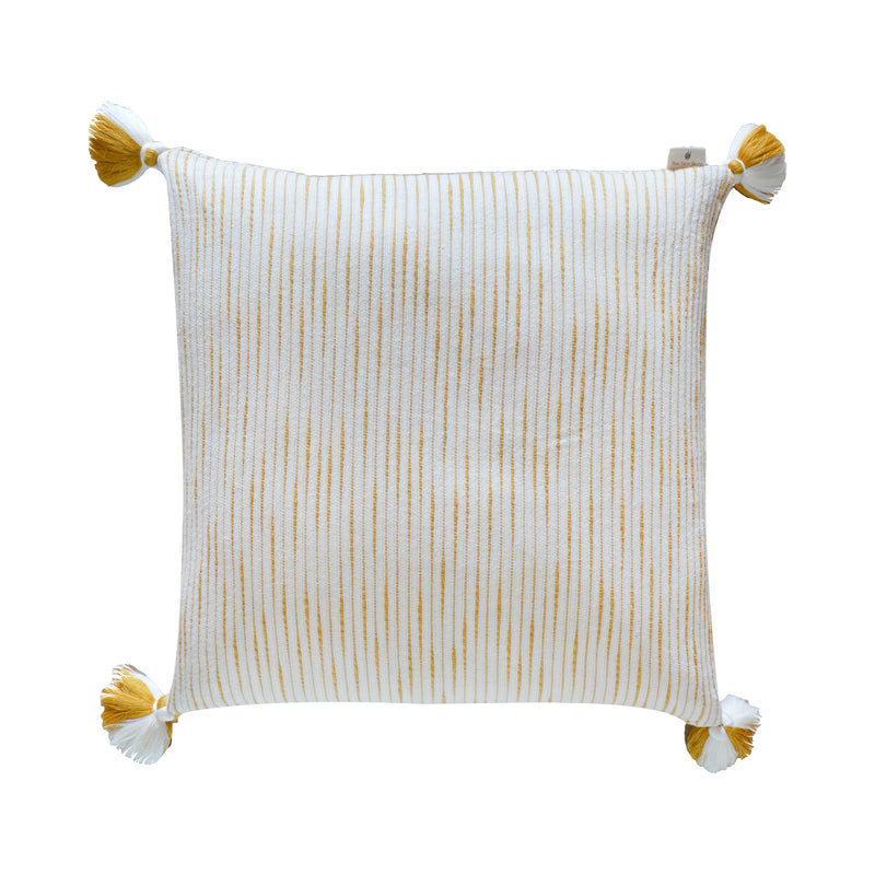 Yellow Ribbed Cushion