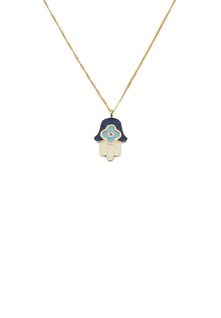 Hamsa Hand Neck Chain - Gold