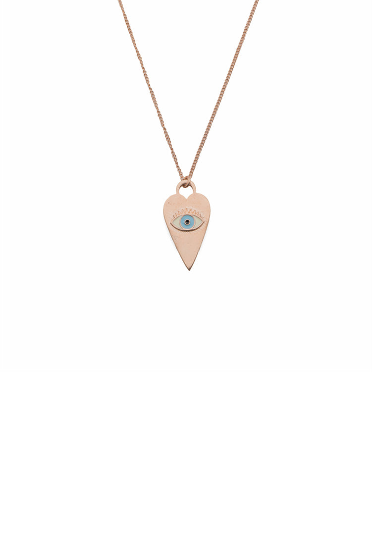 Heart Eye Neck Chain - Rose Gold