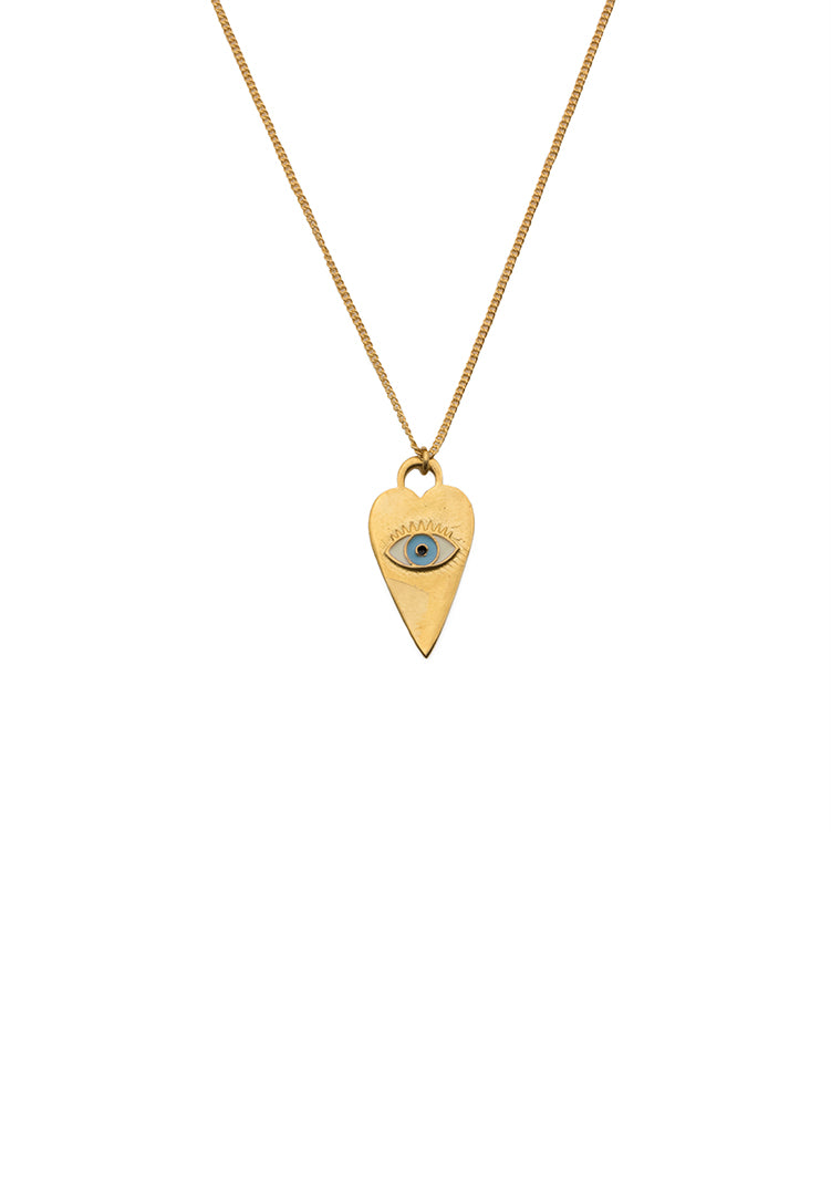 Heart Eye Neck Chain - Gold