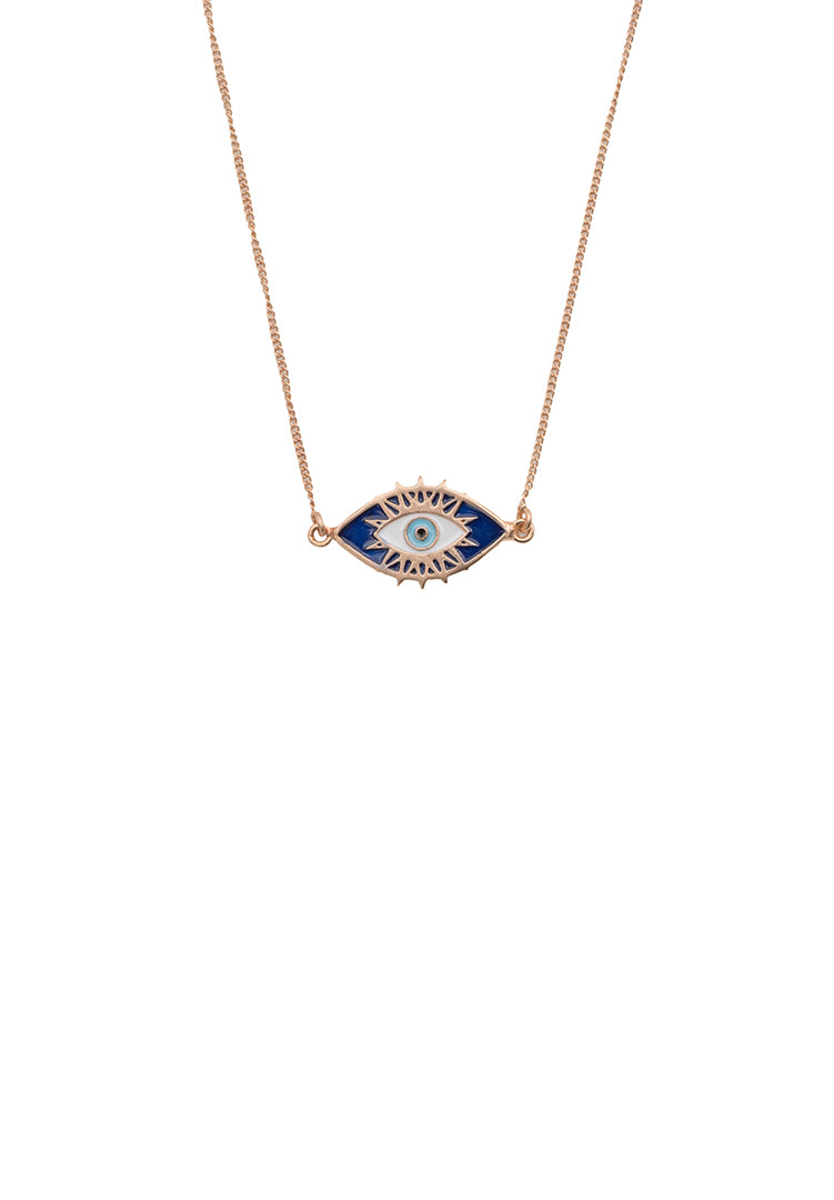 Evil Eye Neck Chain - Rose Gold