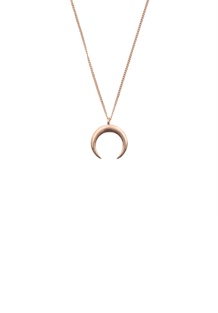 Moon Neck Chain - Rose Gold