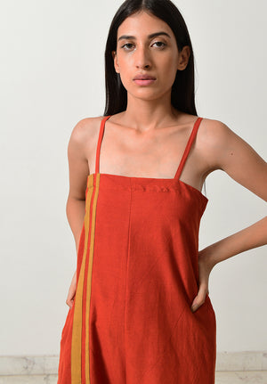 Rust Strappy Jumpsuit