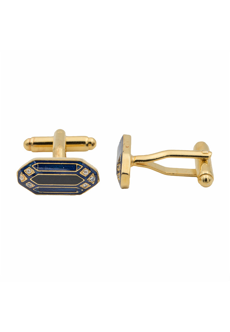 Navarra Cufflinks - Blue and Black