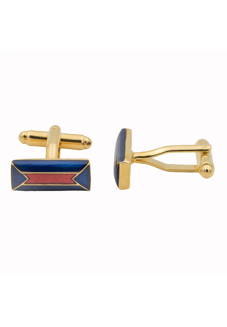 Pyrenees Cufflinks - Blue and Red