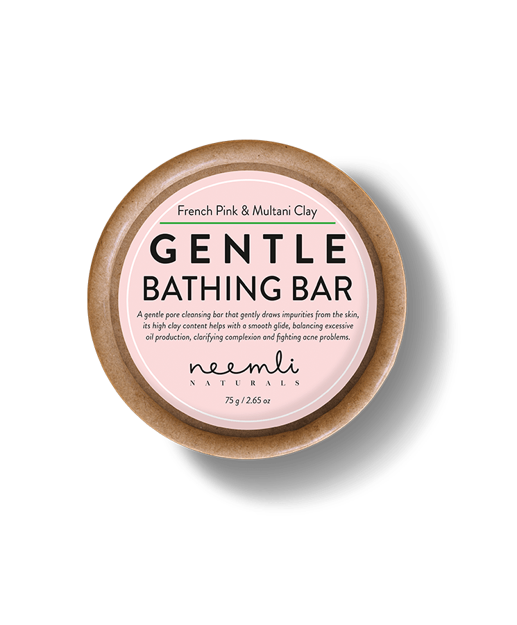 French Pink and Multani Clay Gentle Bathing Bar