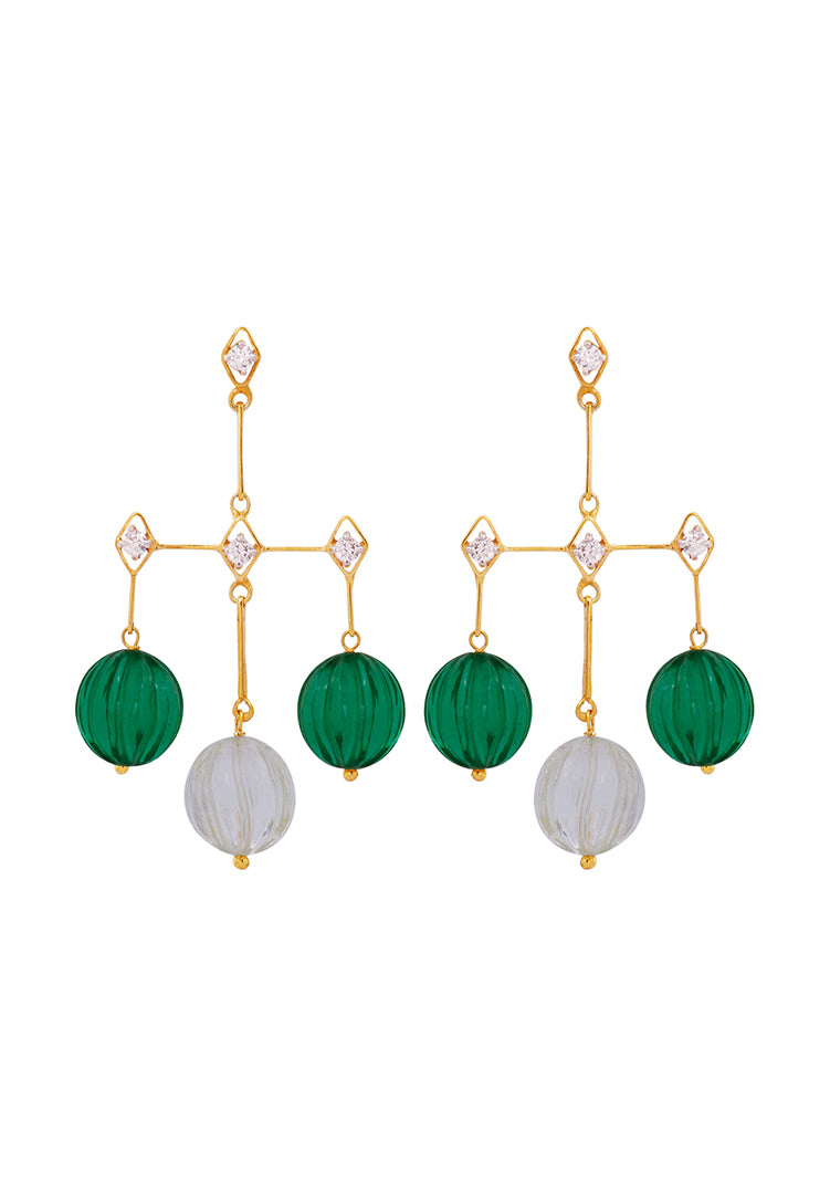 Green Melon Earrings