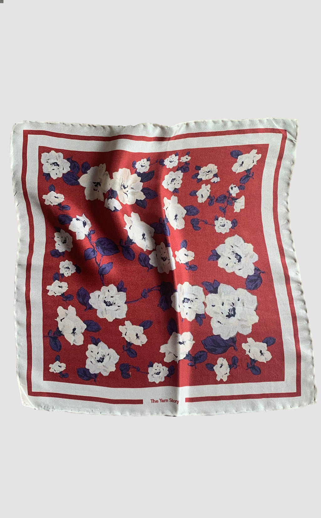 Ivory Flower Pocket Square