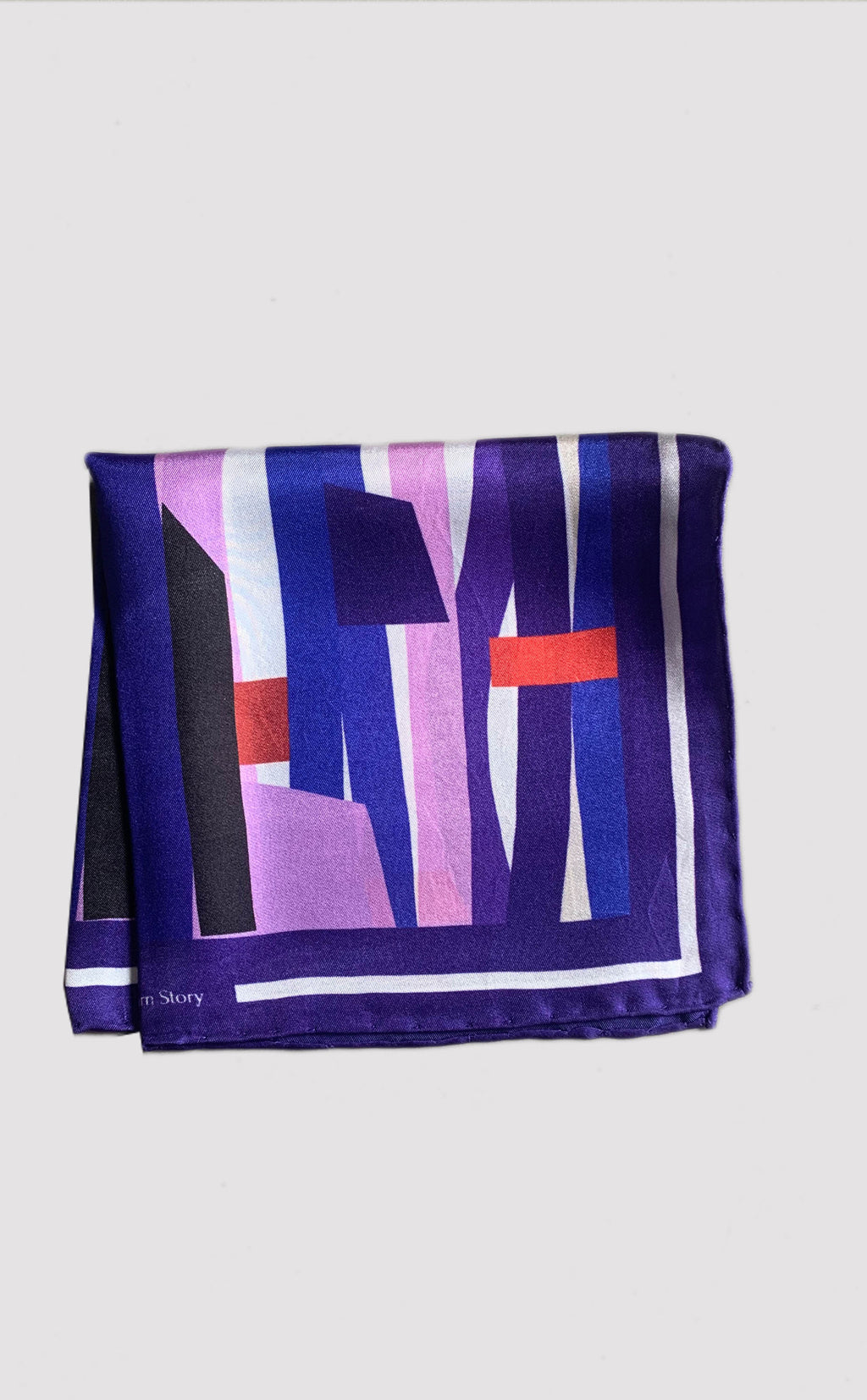 Abstract Blues Pocket Square