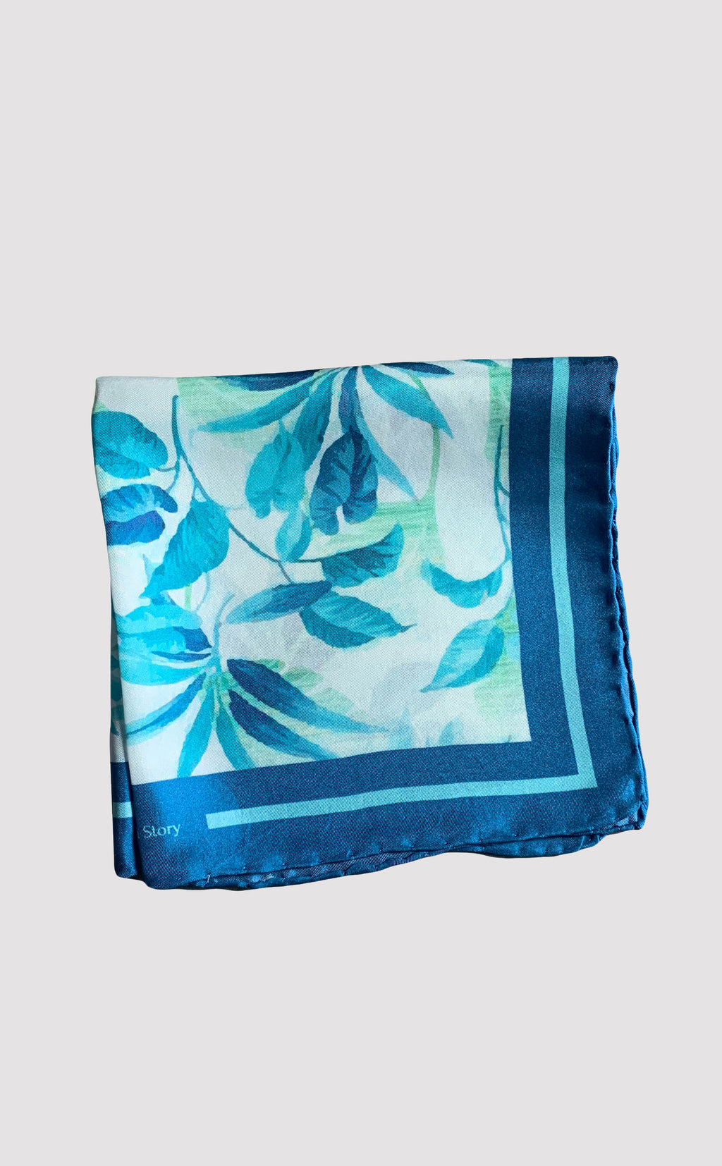 Aquatic Leaves Pocket Square