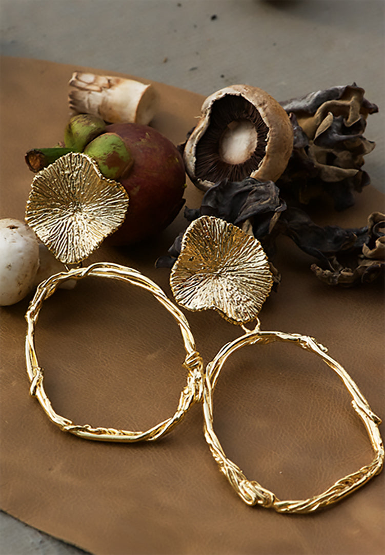 Kinoko Floral Hoop Earrings