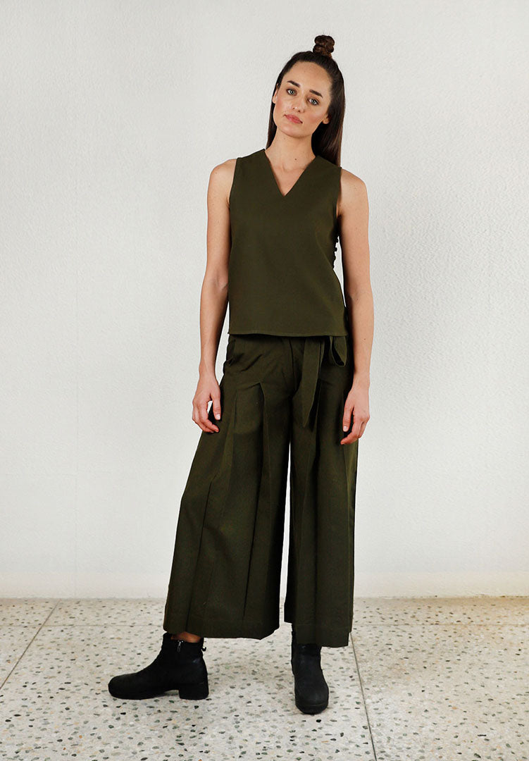 Solid Moon Olive Co-ord
