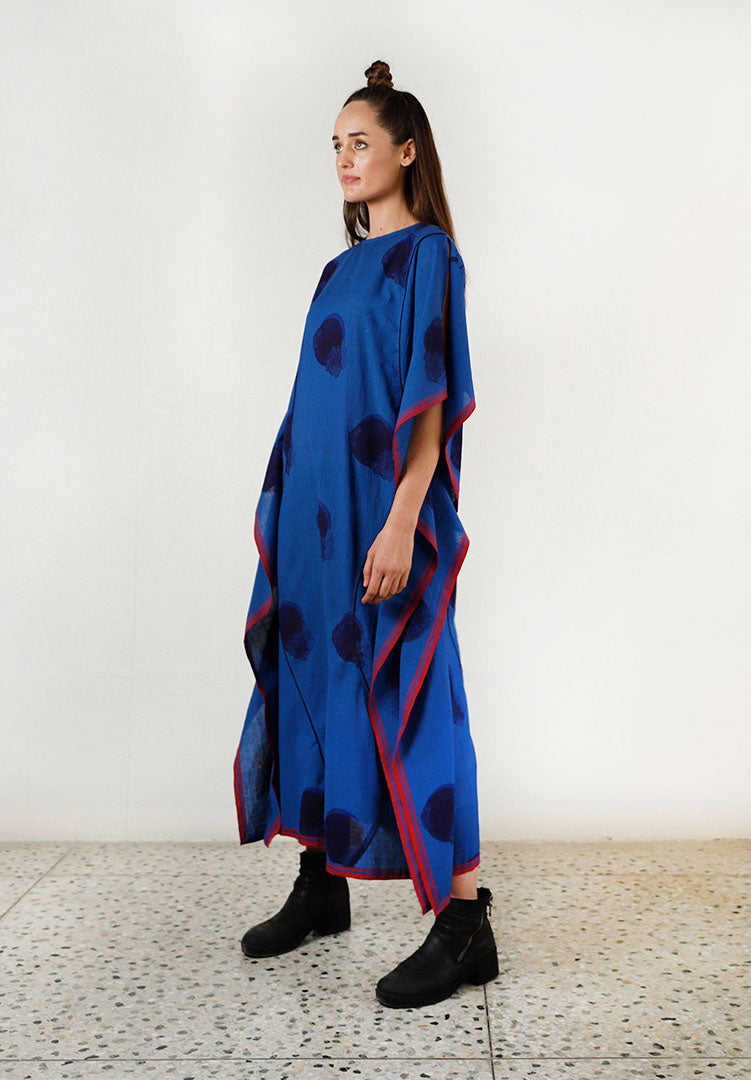 Blue Fluid Moon Kaftan Dress